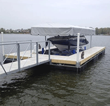 Floating Custom Dock with Concrete Decking